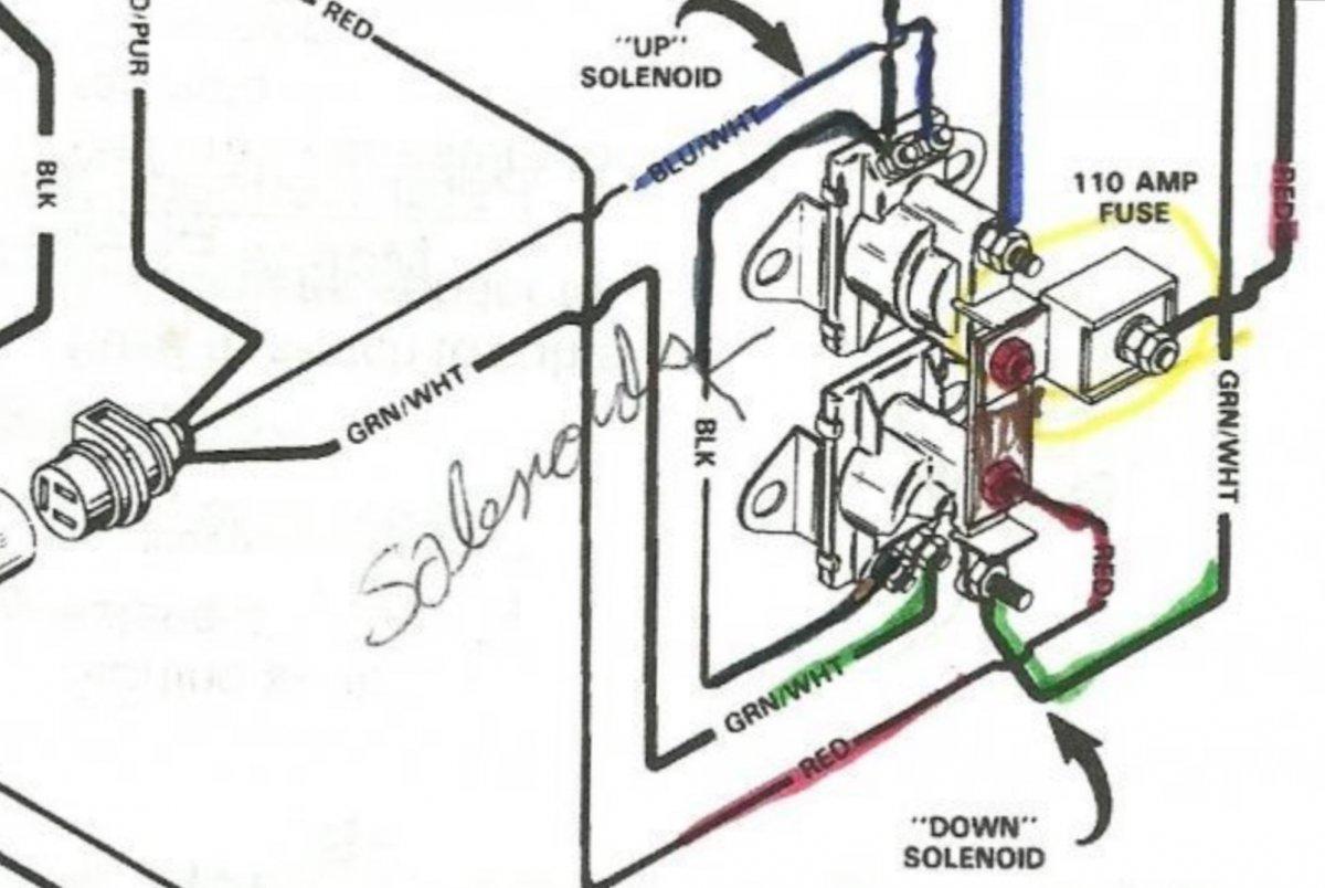 Mercruiser Power Trim Solenoid Wiring Diagram
