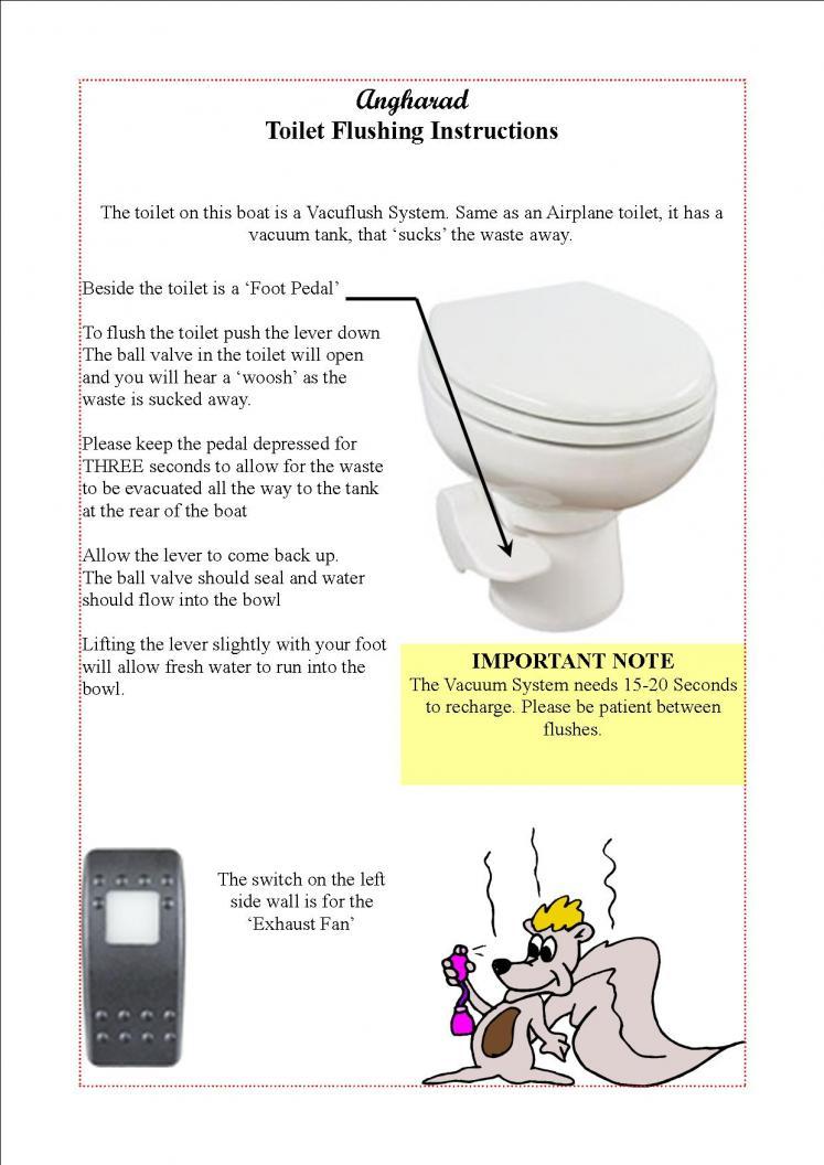Vacu-Flush Gotta love em- and instructions | Club Sea Ray