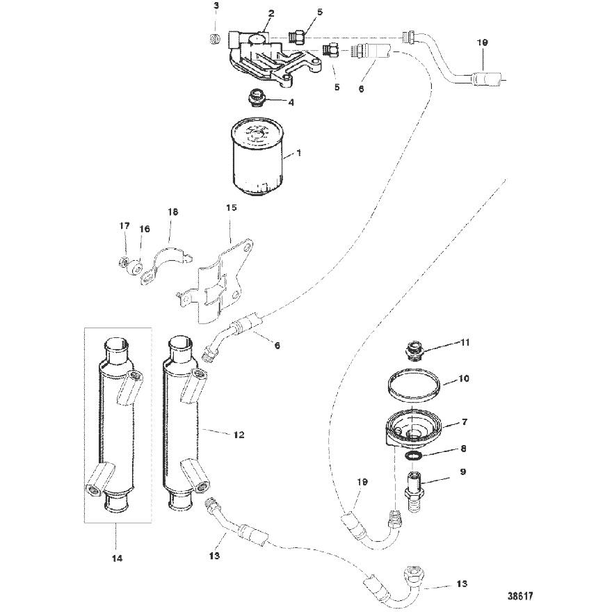 oil hose routing 7 4 (454) club sea ray gas hose diagram 1996 suzuki truck oil cooler diagram jpg