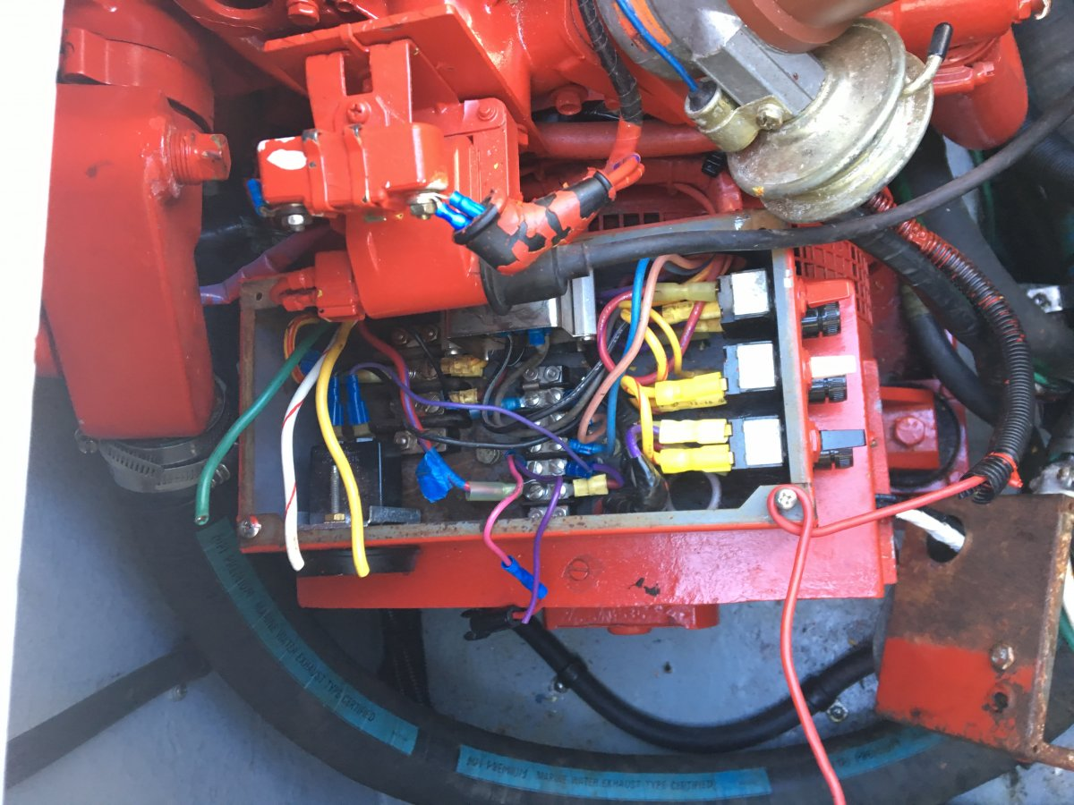 Westerbeke Generator wiring to remote start | Club Sea Ray on