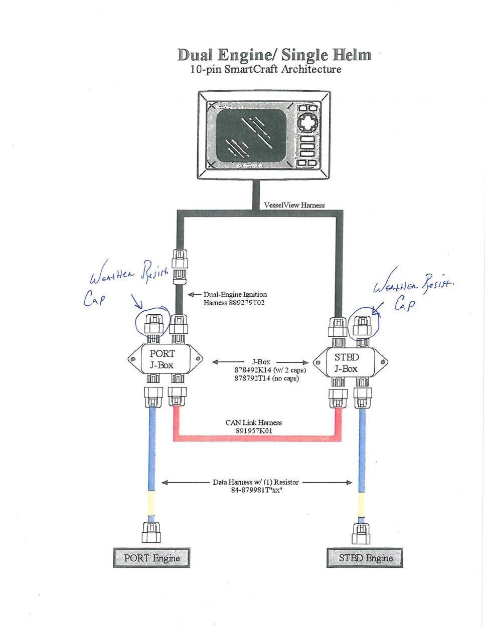Mercury Smartcraft Wiring Diagram Dual Engine Trusted Diagrams Mercruiser Trim Sensor Gateway Club Sea Ray Evinrude Gauge