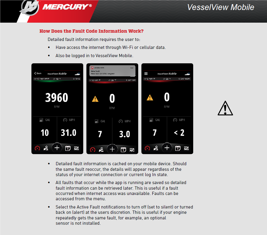 Installed the Vesselview Mobile APP and device - question on