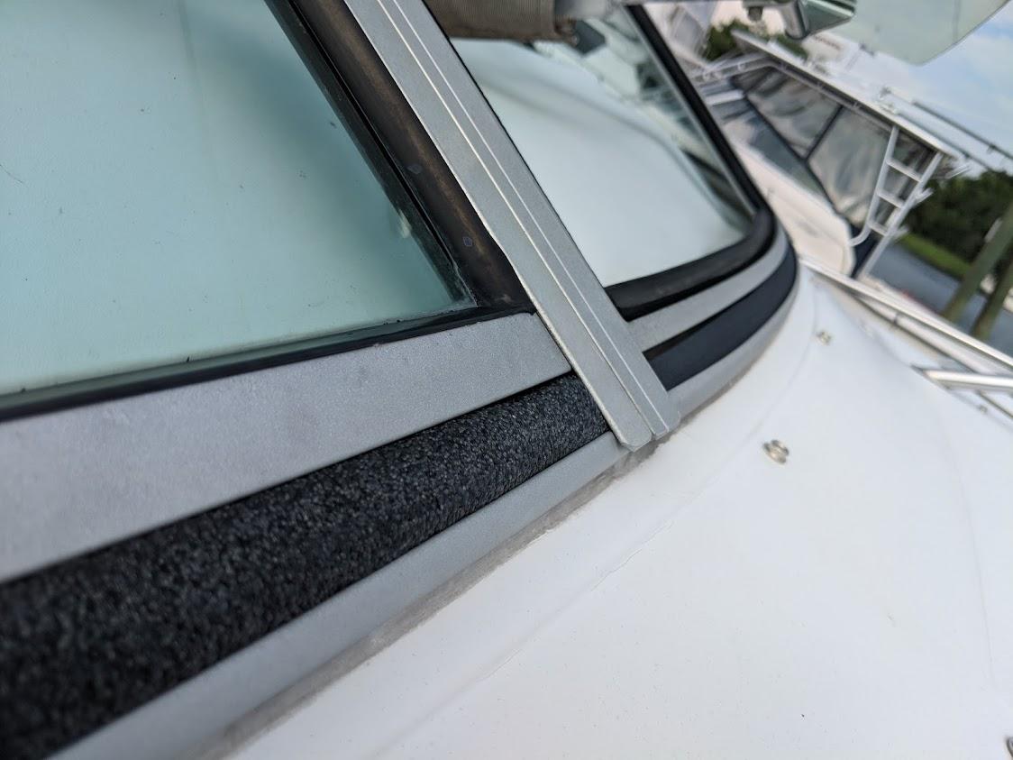strip weather glass Boat window